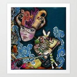 the joker lady Art Print