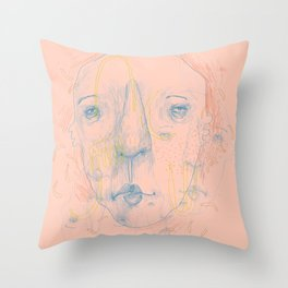Shapes & Faces Throw Pillow