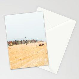 Sandy beach scenic at Oxnard Beach California USA Stationery Cards