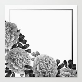 Flowers in the morning Canvas Print