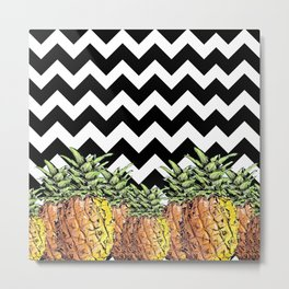 abacaxi chevron Metal Print