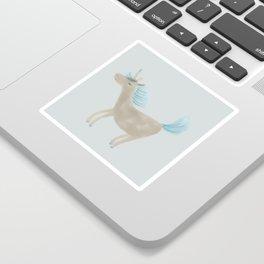 Grey Unicorn Sticker