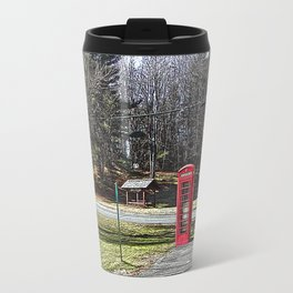 A Red Phone Booth in the Middle of  Nowhere Travel Mug