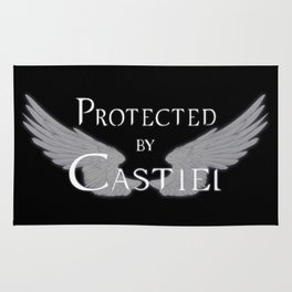 Protected by Castiel White Wings Rug