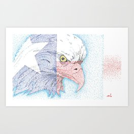 Lone star eagle Art Print