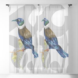 Tui New Zealand Bird Sheer Curtain