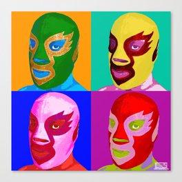 Pop Lucha Canvas Print