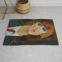 Madame Kisling by Amedeo Modigliani Rug