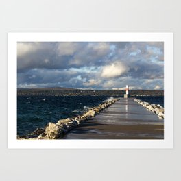 Petoskey Lighthouse Art Print