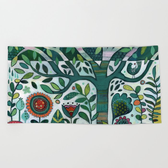 Leafy Garden Beach Towel