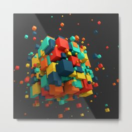 Magnetic Cube Metal Print