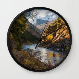 A View Along Colorado's Gunnison River Wall Clock