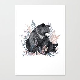 Snuggle Bears Canvas Print