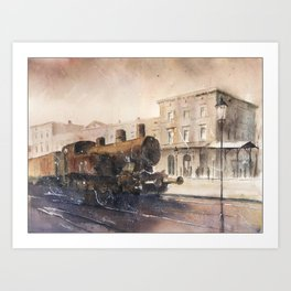 An old locomotive Art Print