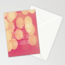 Last Years Words  Stationery Cards