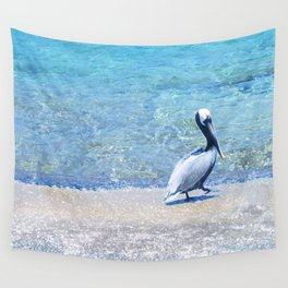 Strutting Pelican Wall Tapestry