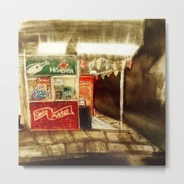downtown cornerstore Metal Print
