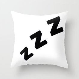 Zzzs in Black Throw Pillow