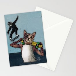 Stingray & Sneakers, Skate Cats Stationery Cards