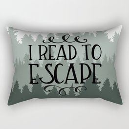 I Read to Escape (Trees) Rectangular Pillow