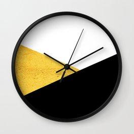 Gold & Black Geometry Wall Clock