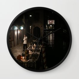 Venice Before 9 Wall Clock