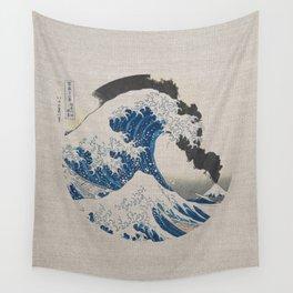 Great Wave Off Kanagawa Erupting Mount Fuji Wall Tapestry