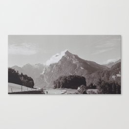 Winding Road and Mountain, Switzerland Canvas Print