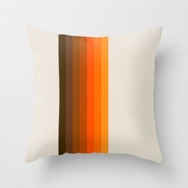 Retro Golden Rainbow - Straight Throw Pillow