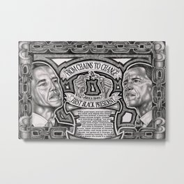 From Chains to Change Poetry by Bakari McClendon Metal Print