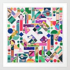 Geometry 2 colorful Art Print