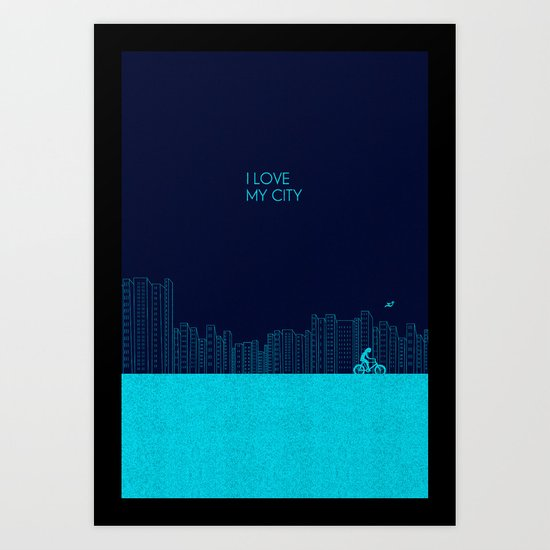 I love my City Art Print
