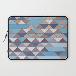 Triangle Pattern No.6 Crisp Blue Laptop Sleeve