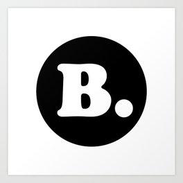 The Letter B. Art Print