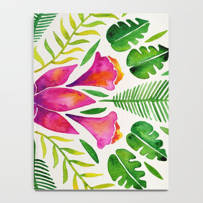Tropical Symmetry – Pink & Green Notebook