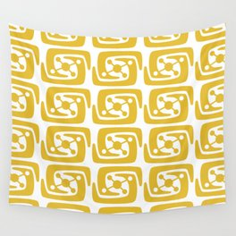 Mid Century Modern Galaxy Pattern 121 Mustard Yellow Wall Tapestry