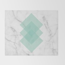 Marble Scandinavian Design Geometric Squares Throw Blanket