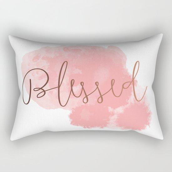 Blessed #society6 #decor #buyart Rectangular Pillow