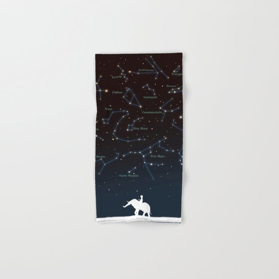 Falling star constellation Hand & Bath Towel
