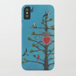 agave tree of life with birds iPhone Case