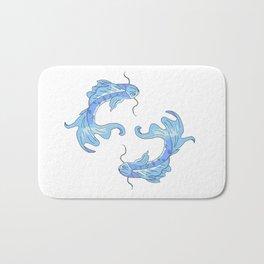 Two koi fish Bath Mat