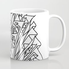 flame line art - white Mug