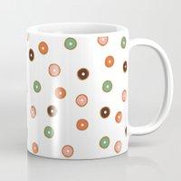 doughnut Mugs featuring doughnut by THE HOUSE OF FOX
