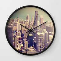 metropolis Wall Clocks featuring Metropolis by farsidian