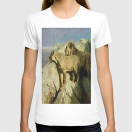 """""""Lion Lookout"""" by Arthur Wardle (1909) T-shirt"""
