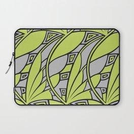 Modern art nouveau tessellations green gray Laptop Sleeve