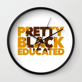 Pretty Black Educated African American College Woman Wall Clock
