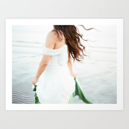 Blurry but perfect | Young woman dancing on the beach | Wanderlust people photography Art Print