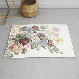 Lush Vintage Floral Rug