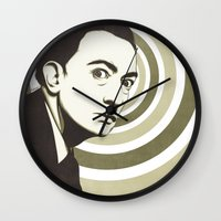 salvador dali Wall Clocks featuring Salvador Dali by Kristjan Lyngmo